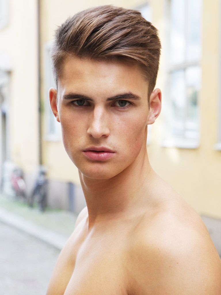 Pin Op Mens Hair