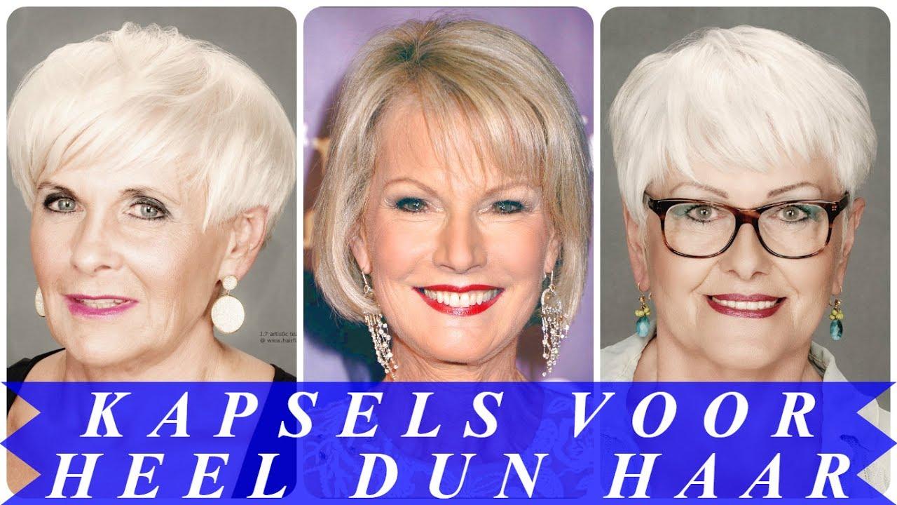 Dun Haar Korte Kapsels Dames 60 Met Bril