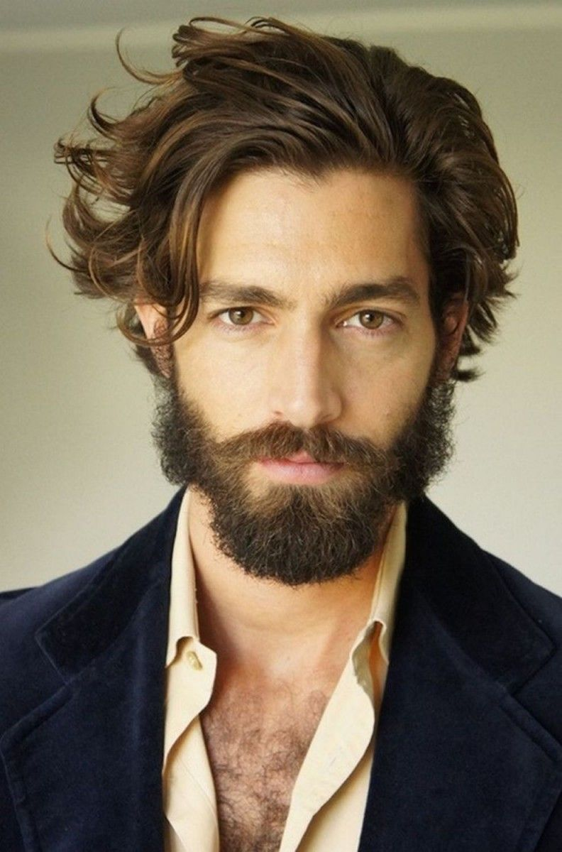 Kapsels Mannen Middellang Haar