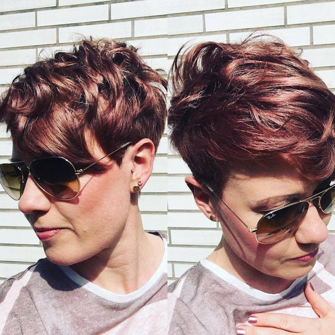 Korte Kapsels Dames Bruin Haar