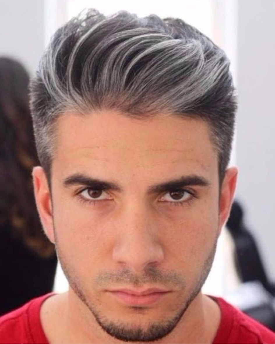 Korte Kapsels Mannen Grijs Haar