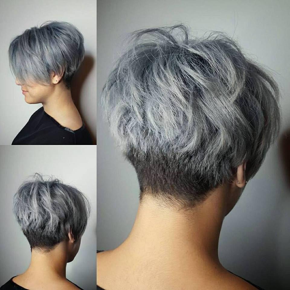 Korte Kapsels Voor Grijs Krullend Haar