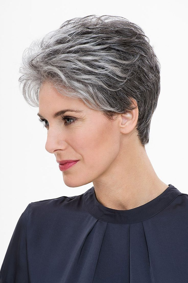 Moderne Korte Kapsels Grijs Haar