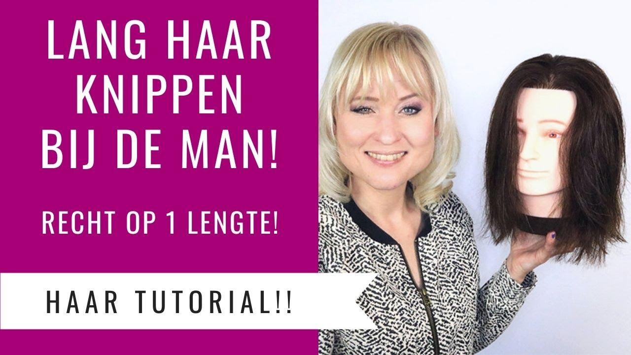 Lang Haar Knippen Bij De Man Recht Op 1 Lengte Dazzling Beauty Youtube