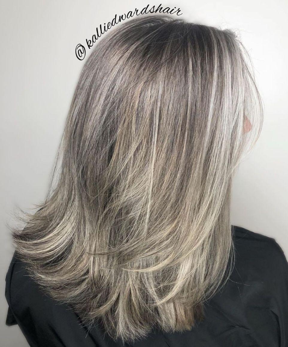 65 Gorgeous Gray Hair Styles Grijs Haar Highlights Grijs Haar Lang Grijs Haar