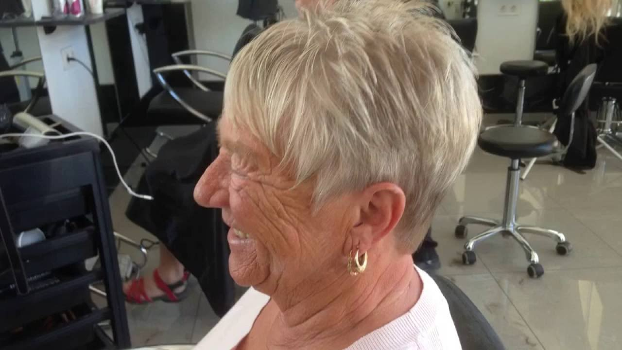 Ladies Short Hairstyles Hair Cut Kort Dames Kort Kapsel Youtube