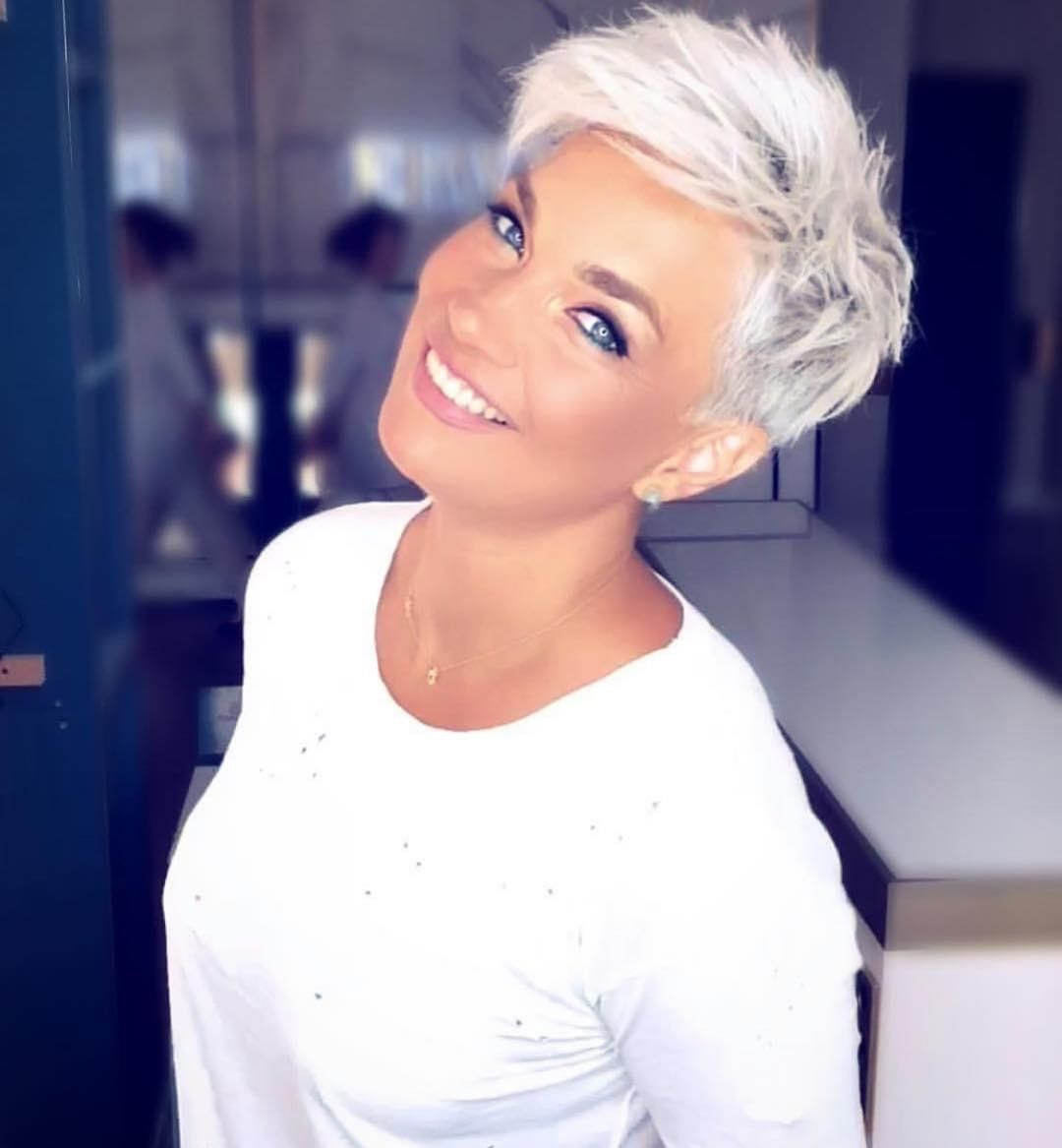 68 Gorgeous Blonde Pixie Hairstyles And Haircuts You Ll See Trending In 2020 Blonde Pixie Hair Thick Hair Styles Haircut For Thick Hair