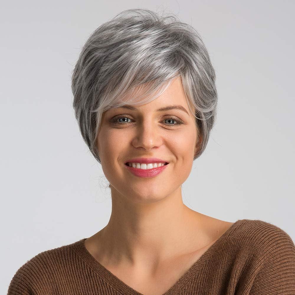 Haircube Pixie Cut Pruik Pruiken Van Echt Haar Voor Vrouwen Mooie Korte Grijze Pruiken Voor Witte Vrouwen Amazon Nl