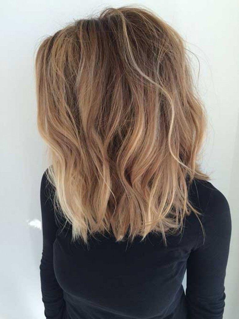 Sombre Chatain A Pointes Blond Soleil Dik Haar Kapsels Haarlengte Bob Haar
