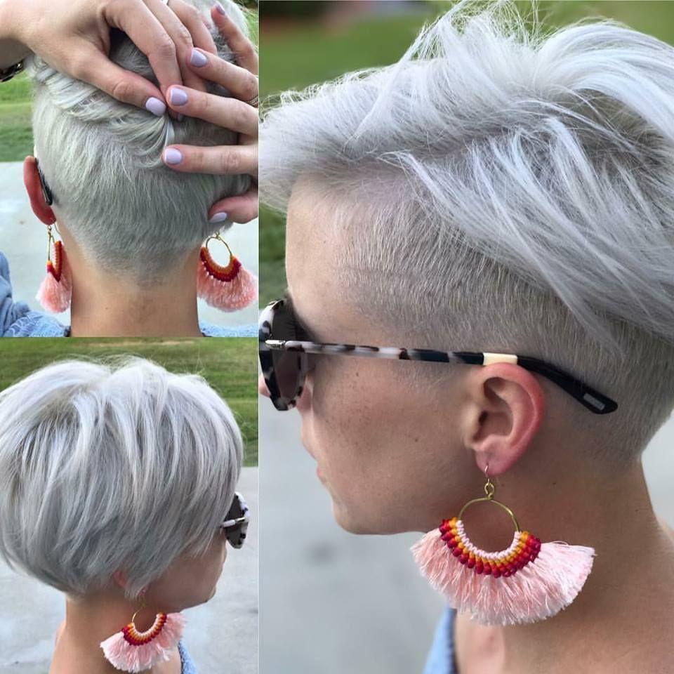 Kort Haar Met Een Opgeschoren Nek Is Helemaal Hot Check Snel Deze 10 Korte Kapsels Met Een Undercut Kapsels Voor Haar Kapsels Haarstijlen Kort Haar