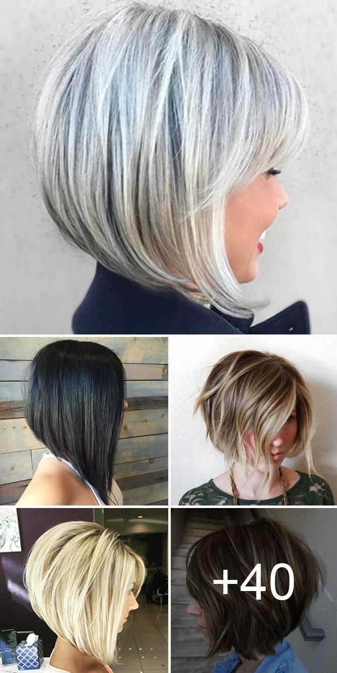 Stacked Bob Haircut Ideas To Try Right Now Bobhaircut Stacked Bob Haircut Bobs For Thin Hair Thick Hair Styles
