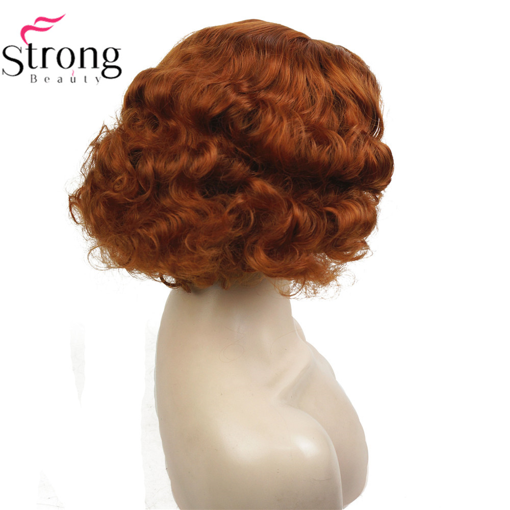 Strongbeauty Koper Blond Flapper Kapsel Kort Krullend Haar Vrouwen Synthetische Capless Pruiken Hair Women Hair Curlyhair Hair Aliexpress