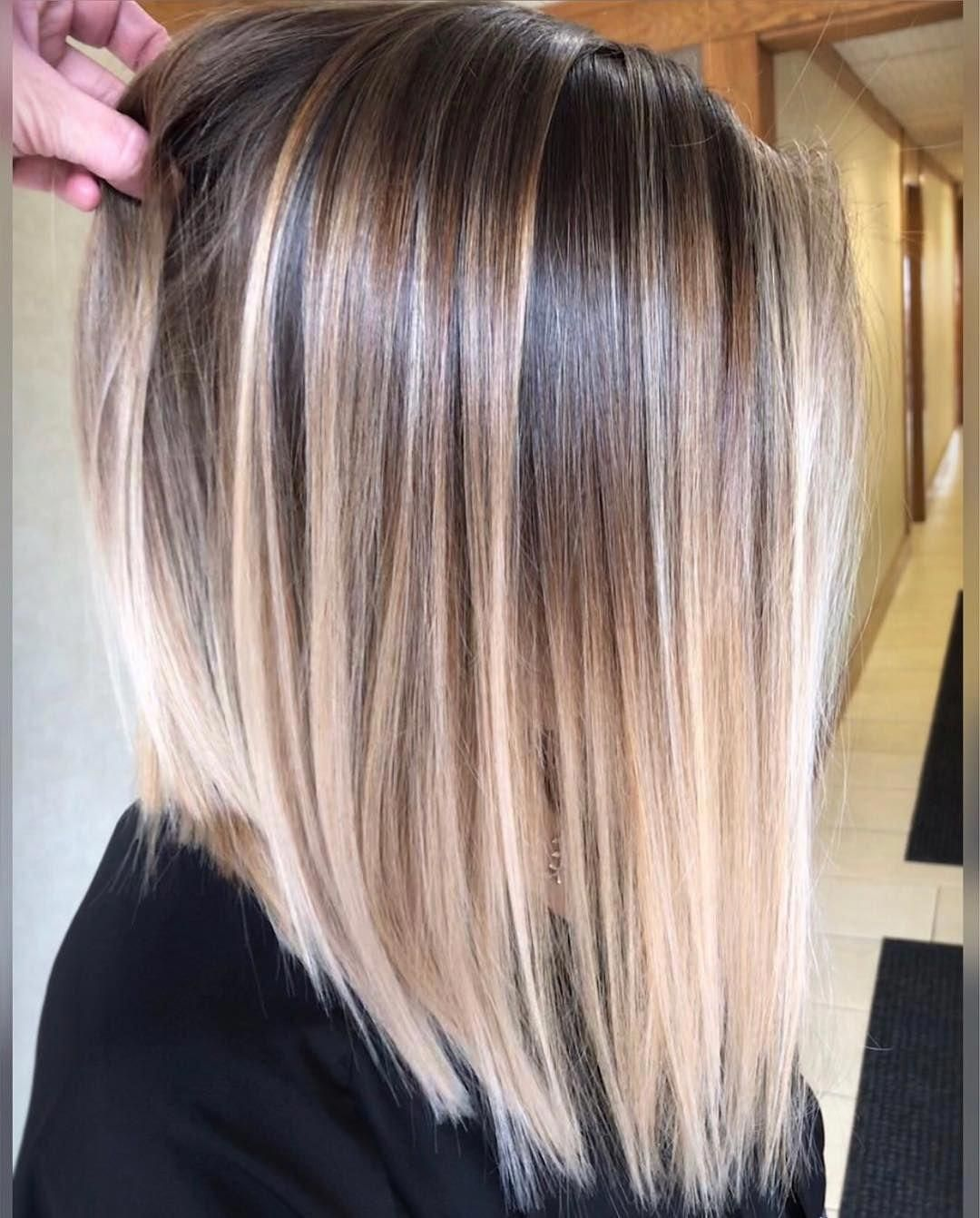 Smooth Balayage By Corynneylon Hair I Mean C Mon Citiesbesthairartists Haircolorbalayage Balayage Straight Hair Short Hair Balayage Hair Styles