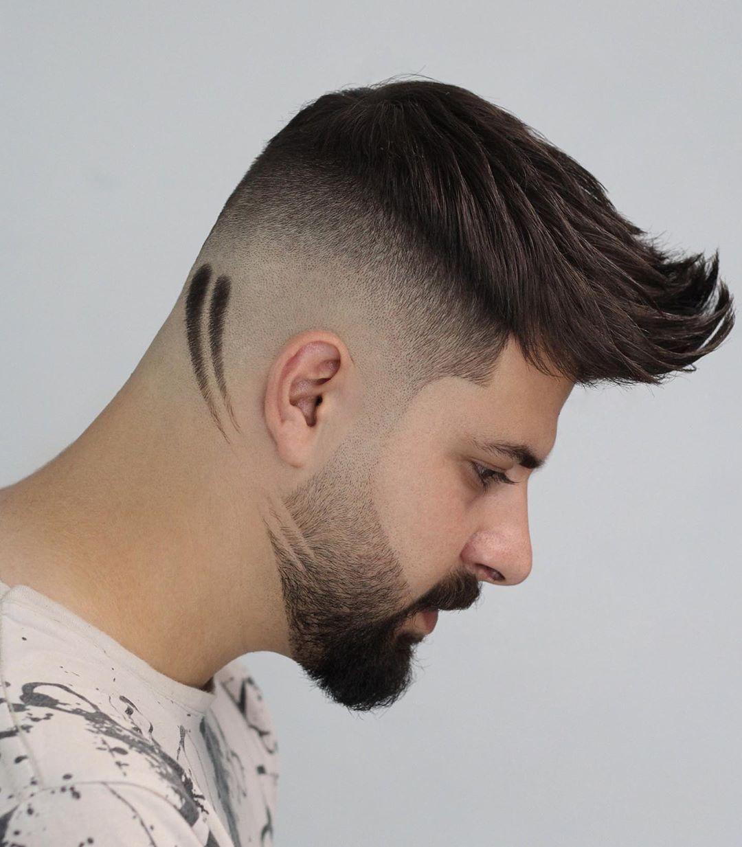 5 743 Vind Ik Leuks 221 Opmerkingen Mohammad Hamze Moohammad Hamze Op Instagram High Fade Linear Design Kapsel Man Stijle Kapsels Baard Stijl