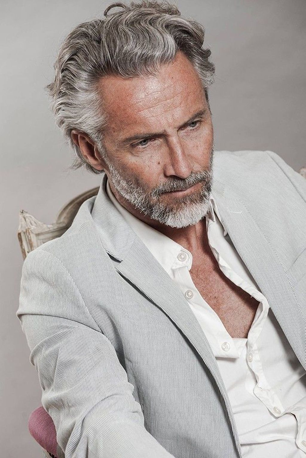 40 Awesome Gray Haired And Beard Men Ideas To Try Asap Older Mens Hairstyles Grey Hair Men Beard Styles