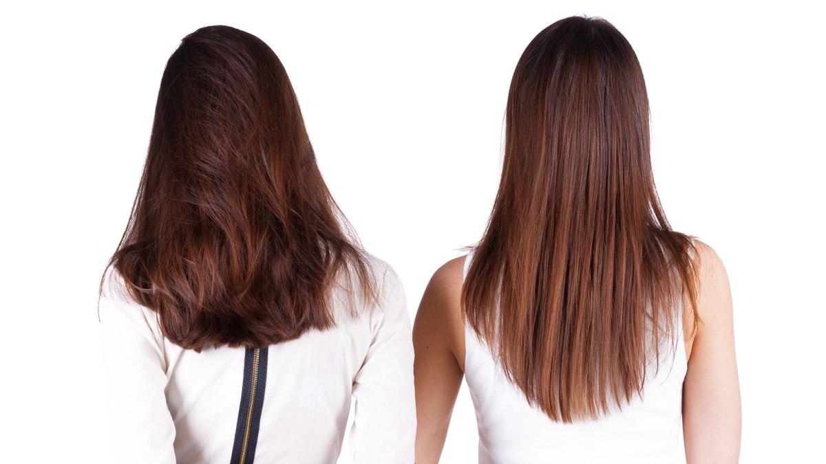 De Knipvorm Van Lang Haar De Kniplijn Van Een Lange Haarsnit