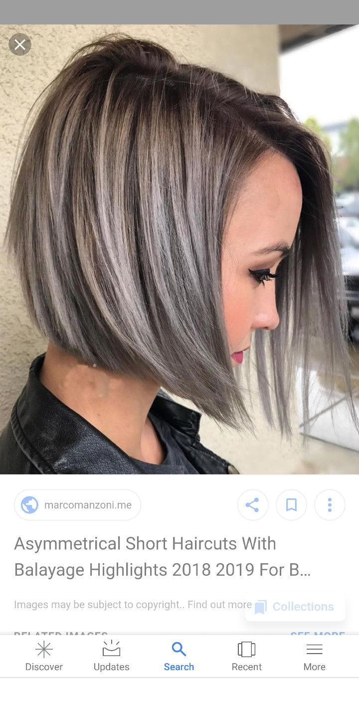 Pin By Corina On Hairstyles Hair Styles Gray Hair Highlights Brown Hair With Silver Highlights