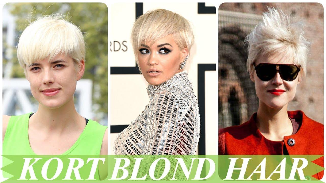 Hippe Blonde Korte Kapsels Dames Youtube