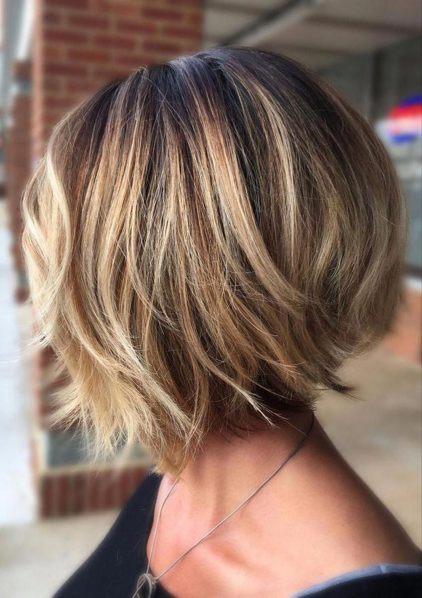 Stylish Layered Bob Hairstyles Bestbobhairstyles In 2020 Thick Hair Styles Bob Hairstyles Layered Bob Hairstyles