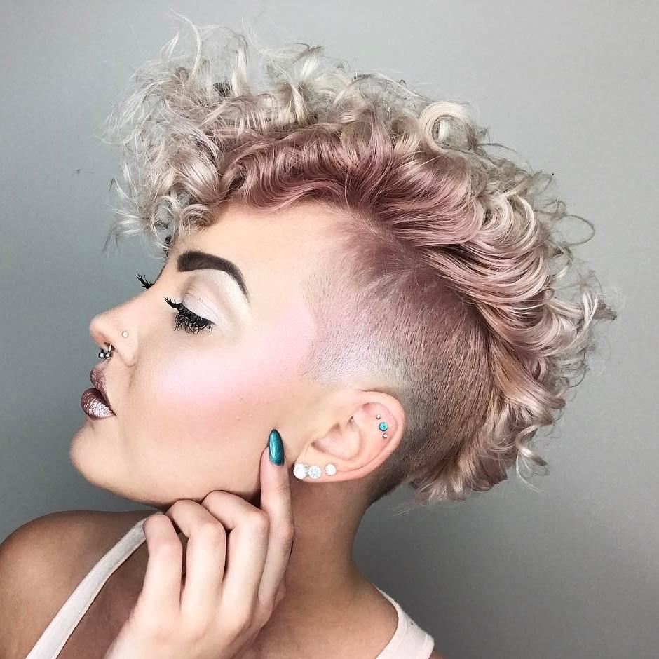 Undercut Pixie Curly Novocom Top