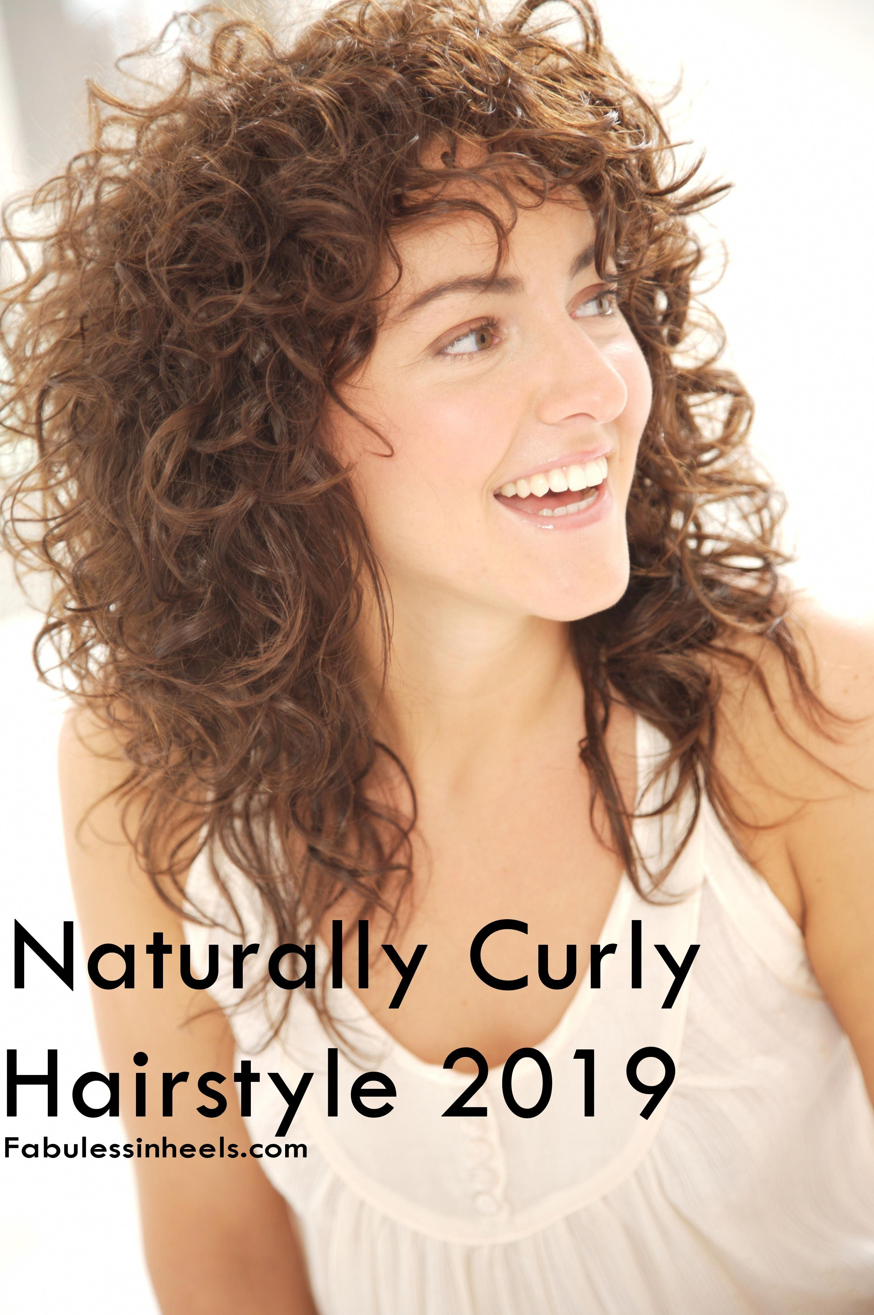 Naturally Curly Hair 2019 For Womens With Medium Length Hairstyle Hairstyleforwomen Medium Hair Styles Shoulder Length Curly Hair Curly Hair Styles Naturally