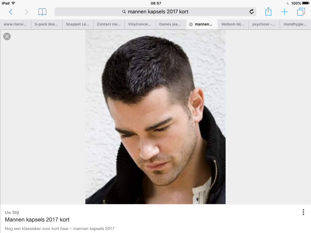 Pin Van Hilde Ten Hove Op Haren Knippen Haircut Kort Kapsel Man Herenkapsels Kapsel Man