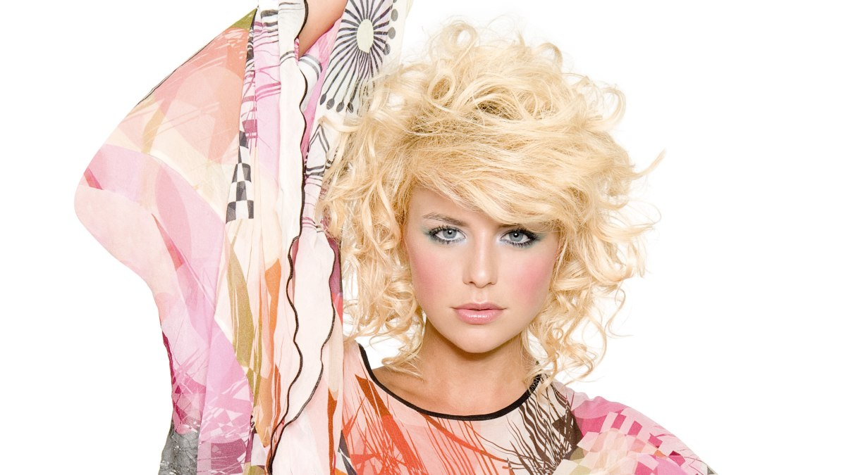 Golvend Blond Haar Met Lagen