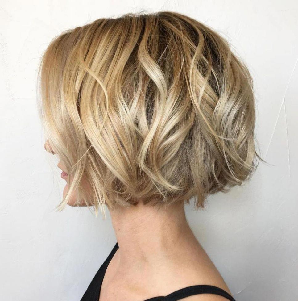25 Jaw Length Wavy Blonde Bob Bobhairstylesforfinehair Thick Hair Styles Wavy Bob Hairstyles Short Hair Styles