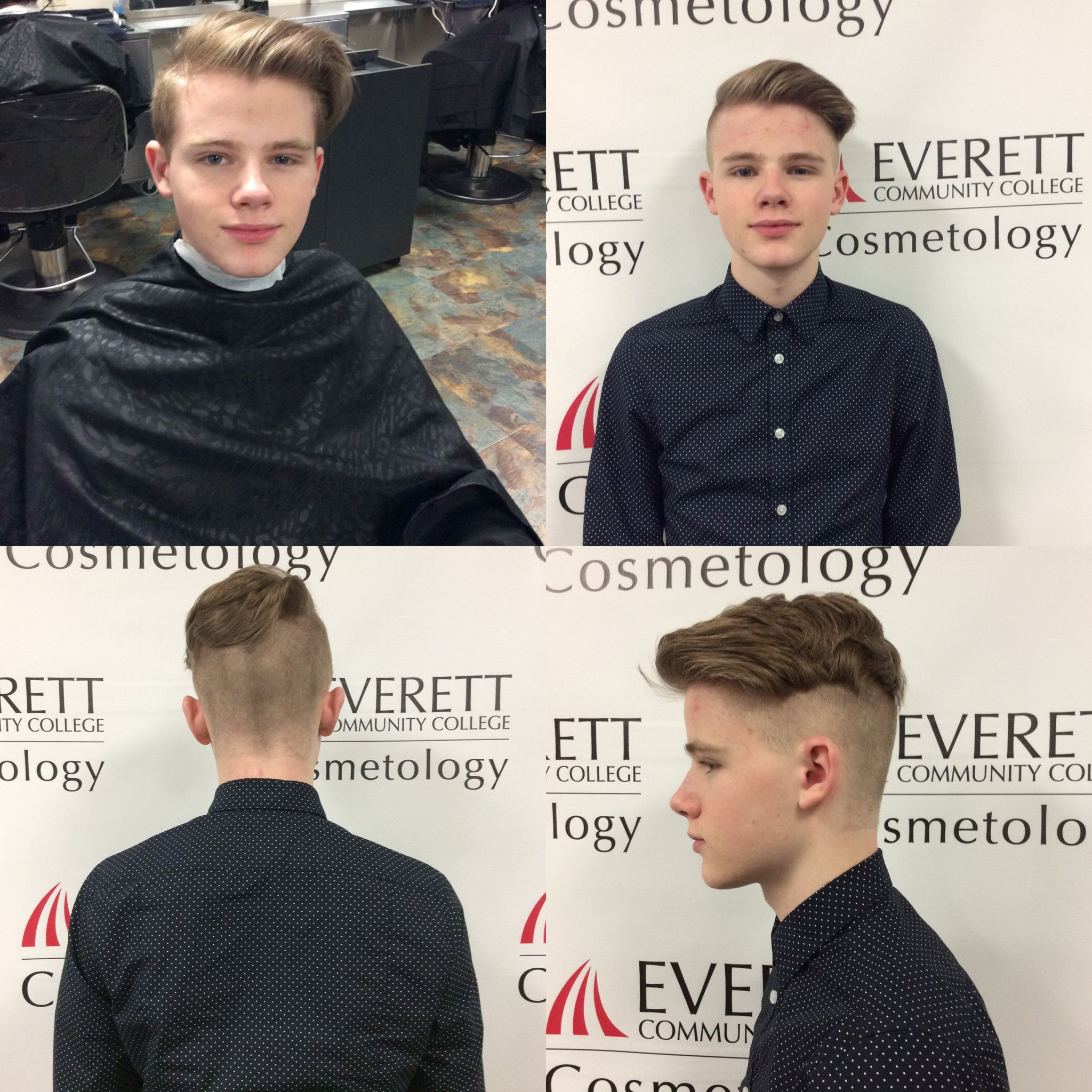 2 17 16 Today I Did A Disconnected Haircut On My Model And Used A 1 And Half Guard On The Sides And Back Kapsels Knappe Jongens Jongens
