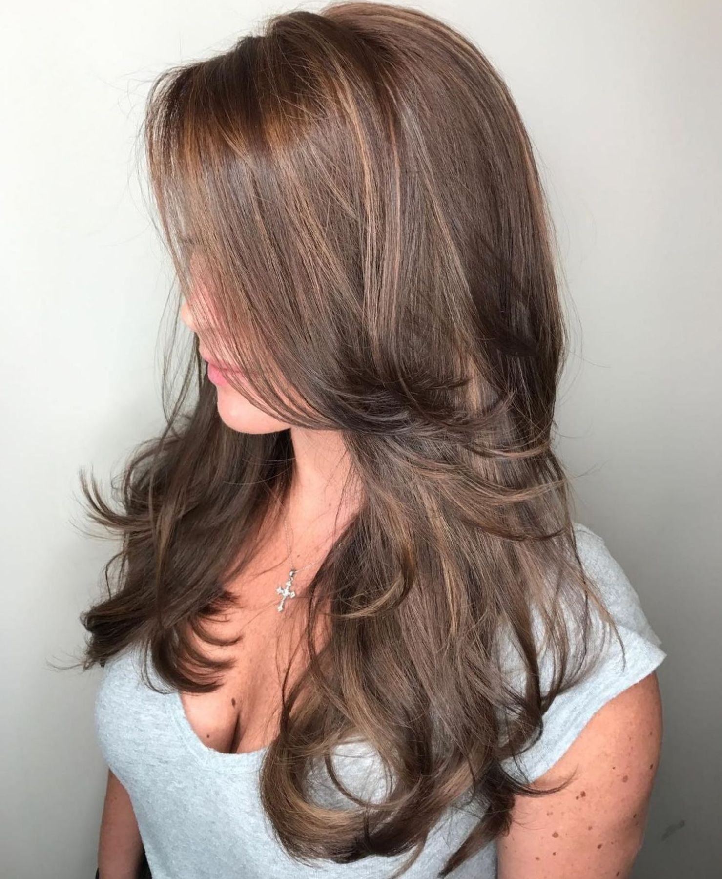 Long Hairstyle With Face Framing Layers Lang Haar Kapsels Kapsel Lang Haar Laagjes Kapsels Lang Haar Laagjes Stijl
