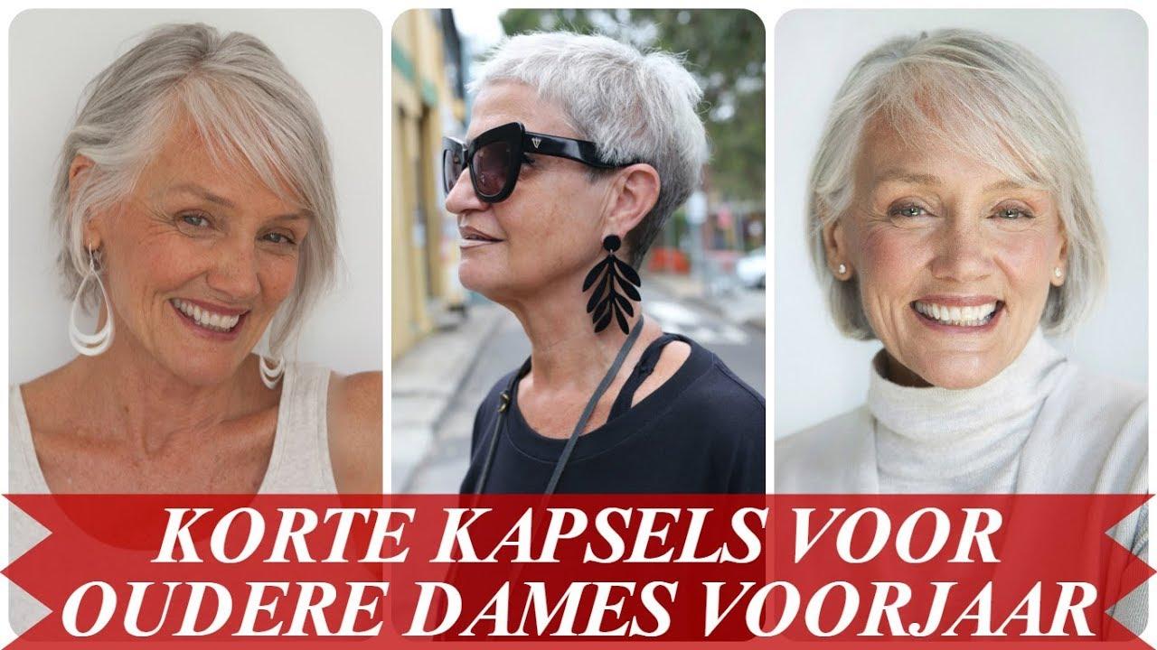 Oudere Dames Korte Kapsels Verzameling