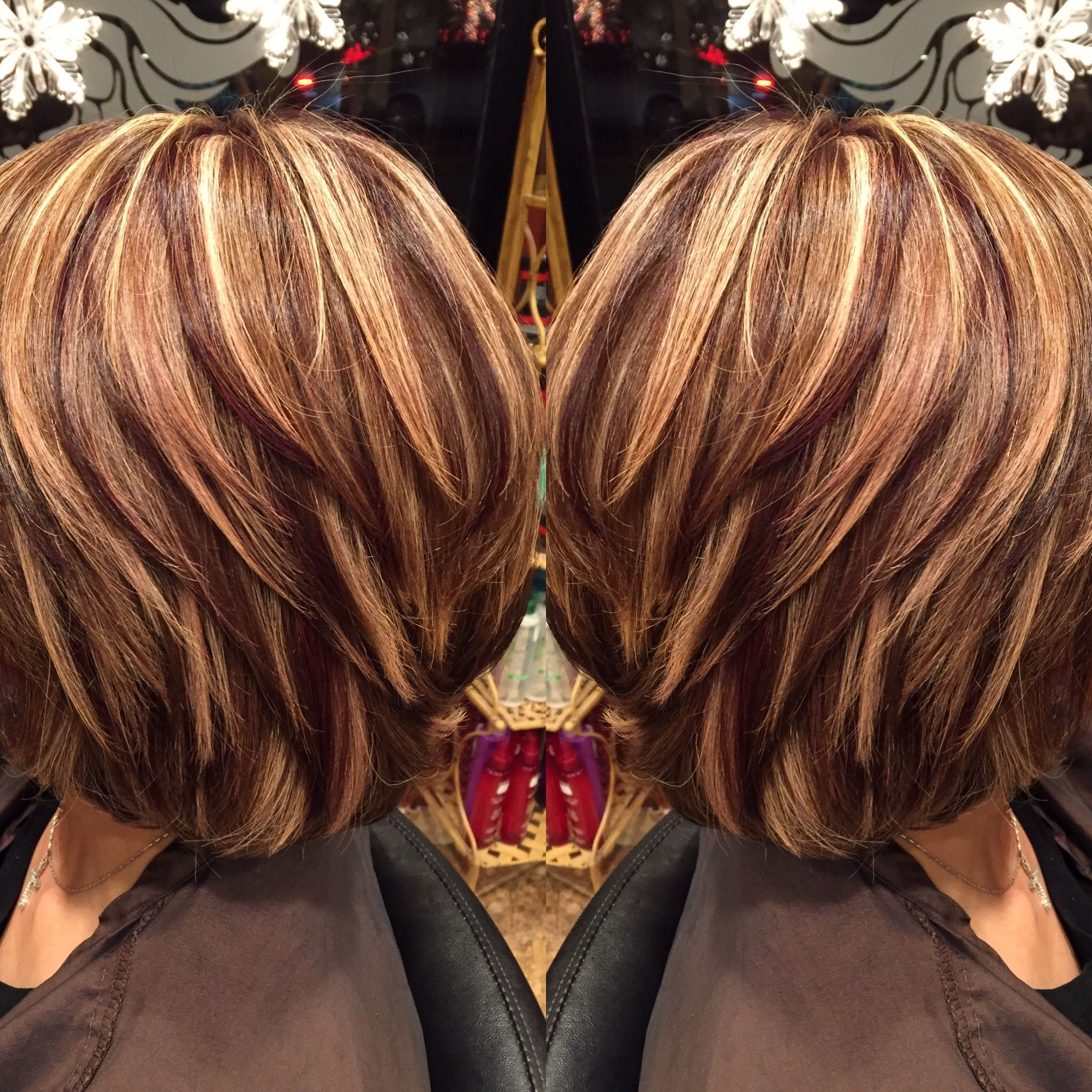 Highlights And Lowlights Josephashleysalon Http Coffeespoonslytherin Tumblr Com Post 157380175497 Finger Hair Styles Fall Hair Highlights Short Hair Styles