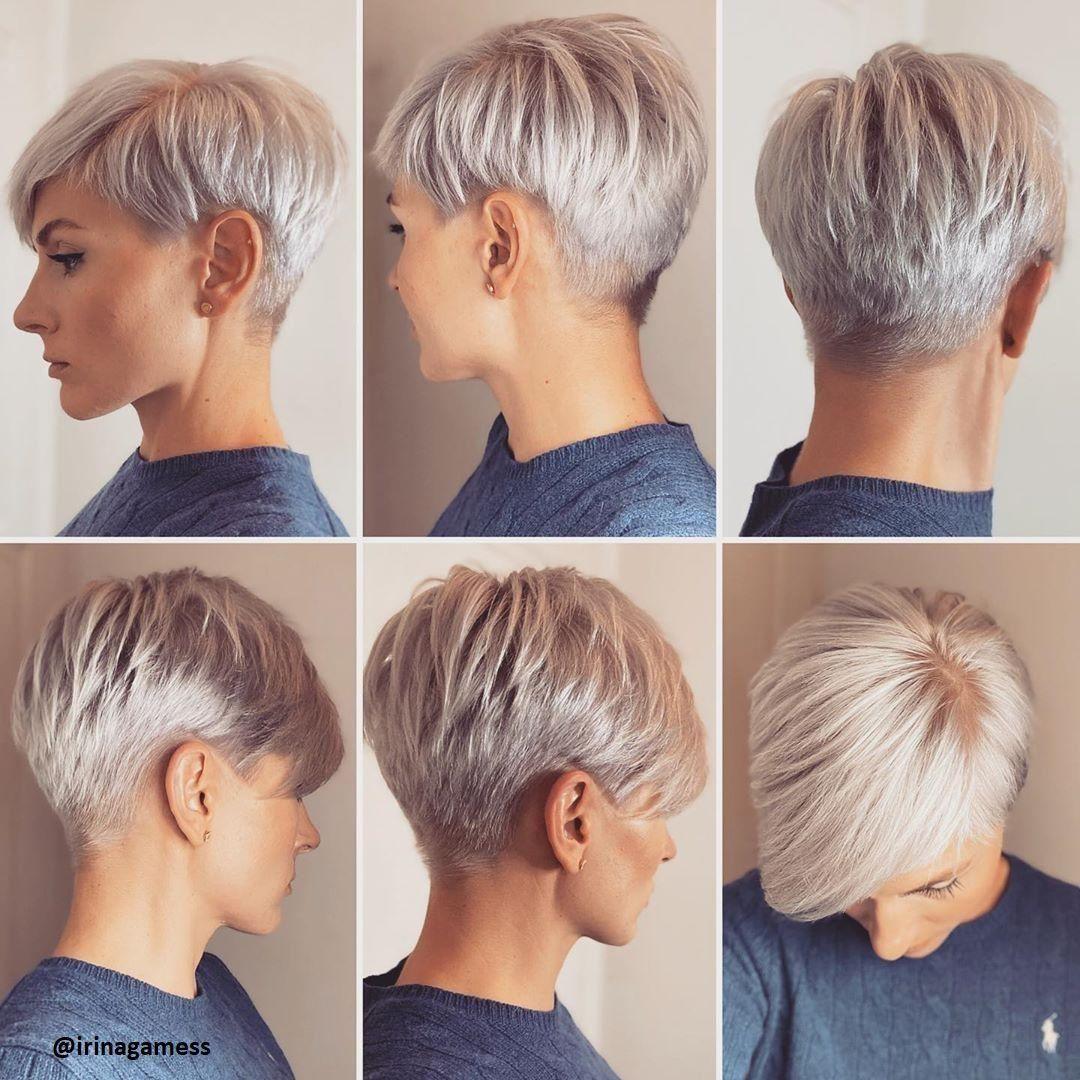 Platina Blond Kort Haar Kapsels Stijl Haar Short Hair Styles Short Blonde Hair Hair Styles