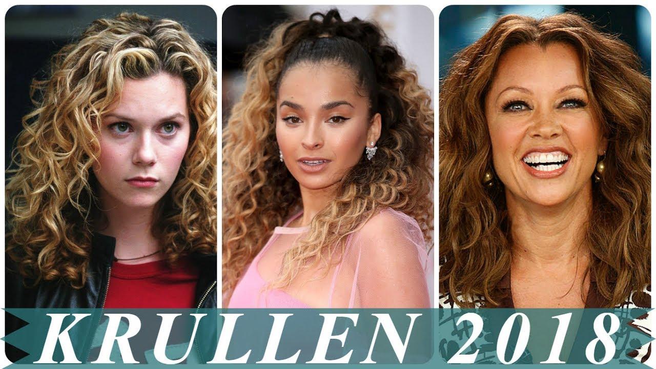 100 Modieuze Kapsels En Kapsels Voor Krullend Haar In 2018 Foto Artikelen 2021