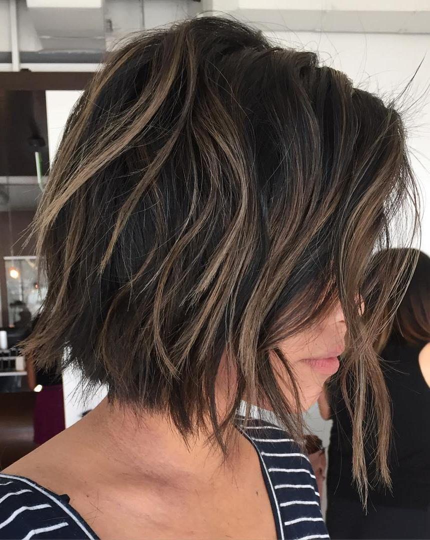 70 Cute And Easy To Style Short Layered Hairstyles Kapsels Halflange Kapsels Gelaagde Kapsels
