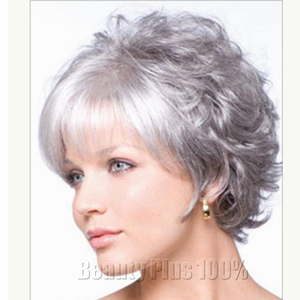 2016 Zeer Korte Kapsels Voor Oudere Vrouwen Synthetisch Krullend Haar Pruik Haarstukje Grijs Blonde Vrouw Pruik Peruque Afro Gratis Verzending Wig Lace Wig Scalphairstyles Long Black Straight Hair Aliexpress