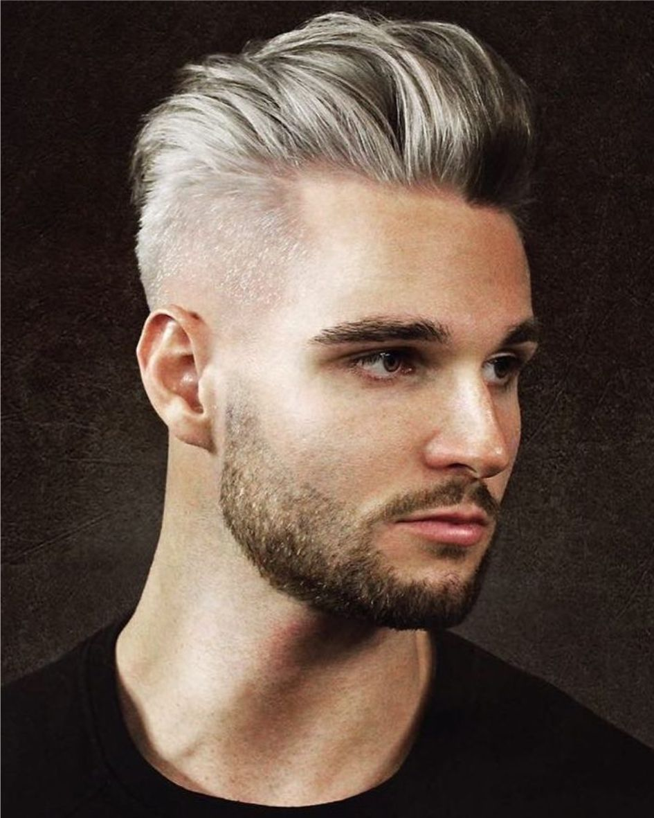 2018 Achterover Grijs Kort Opgeschoren Winter White Boy Haircuts White Guy Haircuts Boy Hairstyles