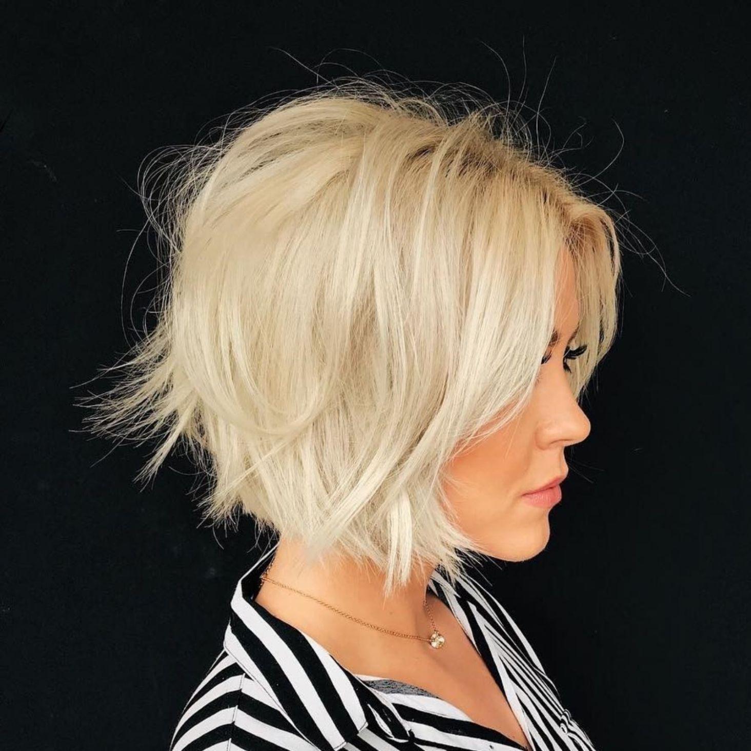 Chin Length Messy Blonde Bob Kapsels Kapsels Voor Kort Haar Lange Blonde Kapsels