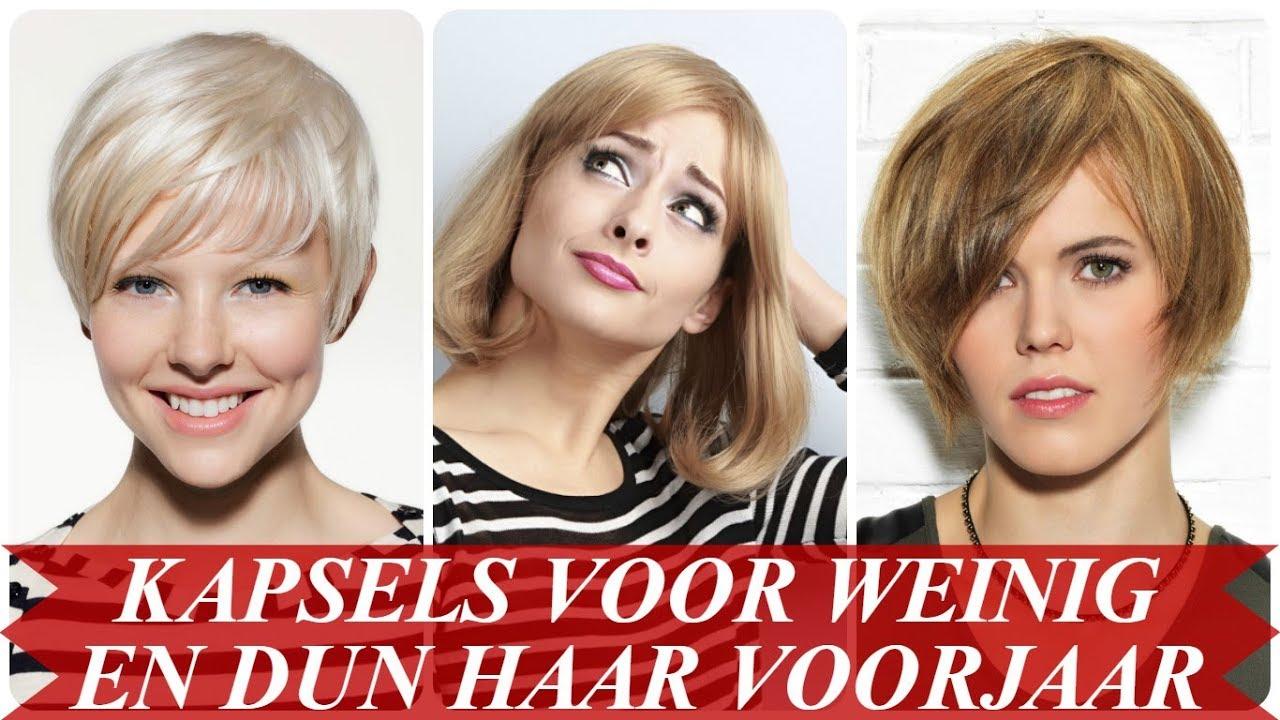 Moderne Kapsels Voor Weinig En Dun Haar Voorjaar 2018 Youtube