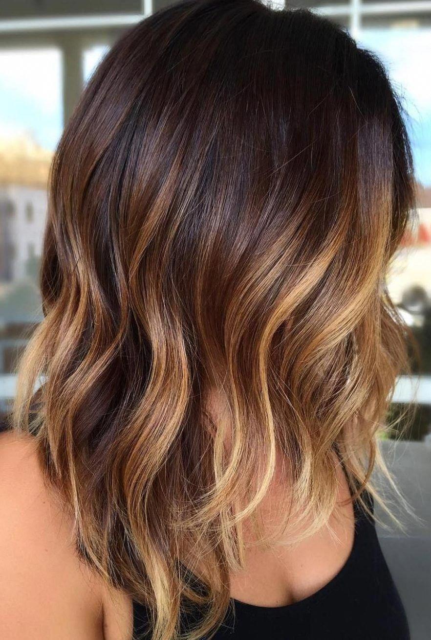 28 Incredible Examples Of Caramel Balayage On Short Dark Brown Hair Short Hair Models Short In 2020 Brown Hair With Highlights Brown Hair Balayage Thick Hair Styles