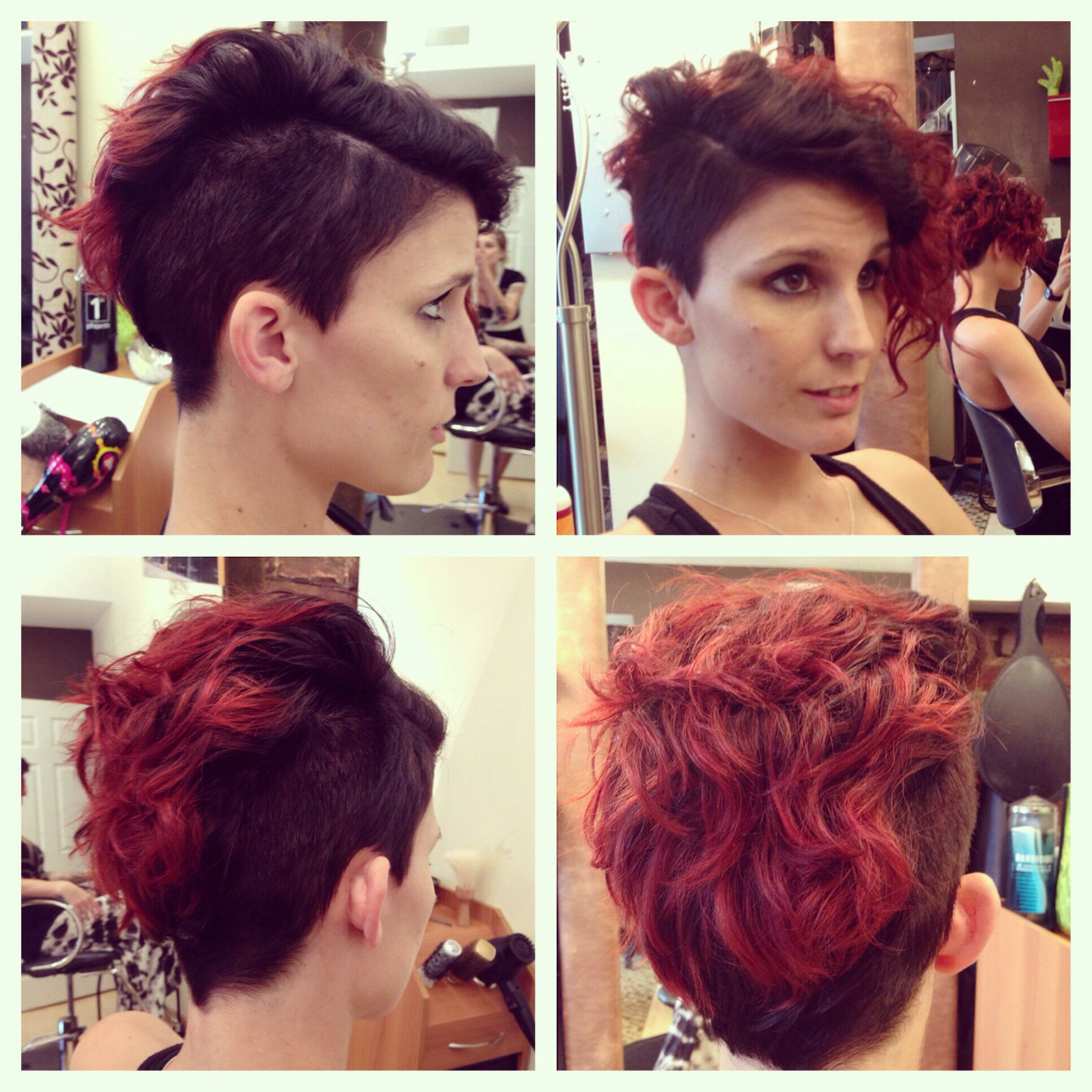 Undercut Curly Hair Shaved Sides Female