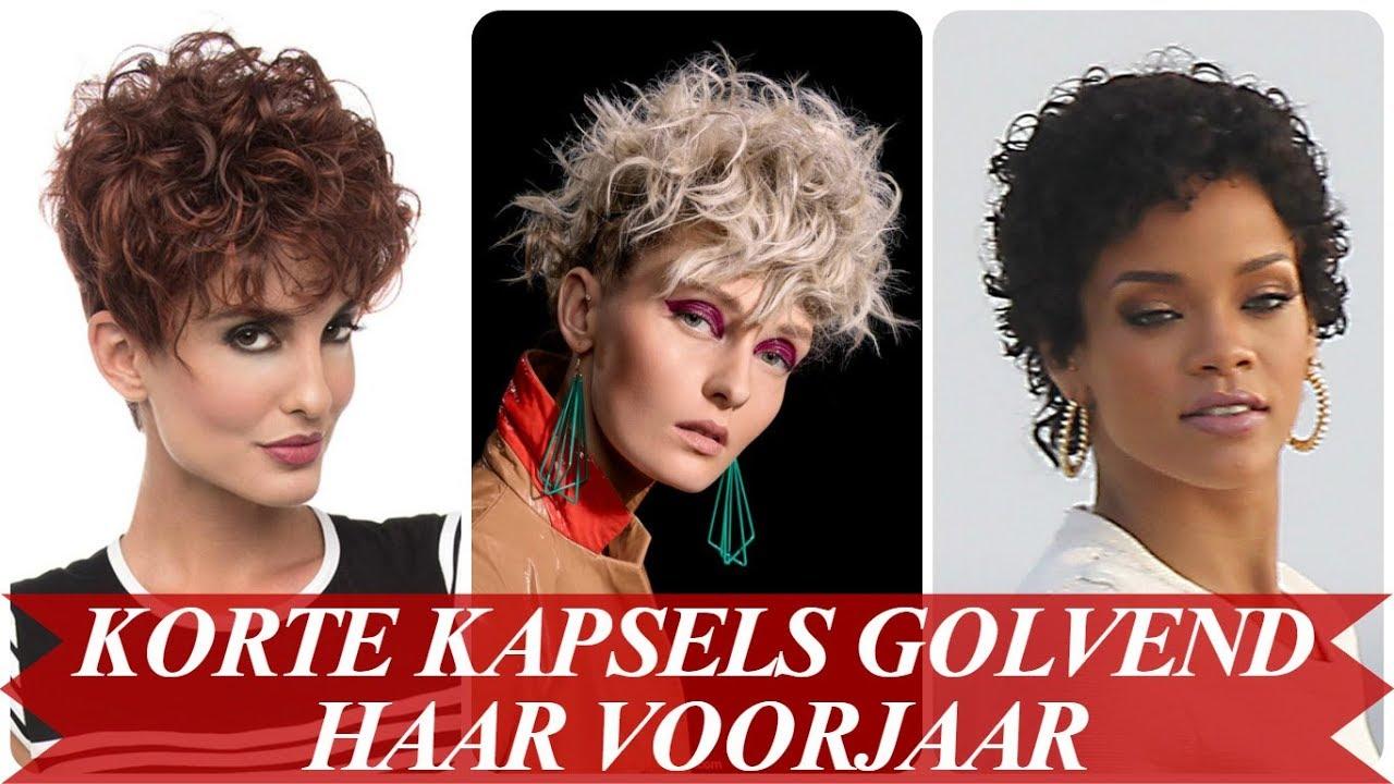 Mooie Korte Kapsels Golvend Haar Voorjaar 2018 Youtube
