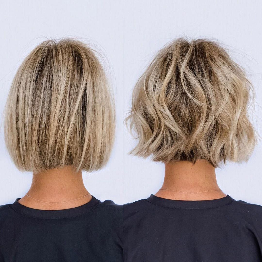 From Soft Blunt To Textured Bob In About 10 Min Prepped With Moisture Defining Whip From Virtu Bob Haircut For Fine Hair Haircuts For Fine Hair Hair Styles