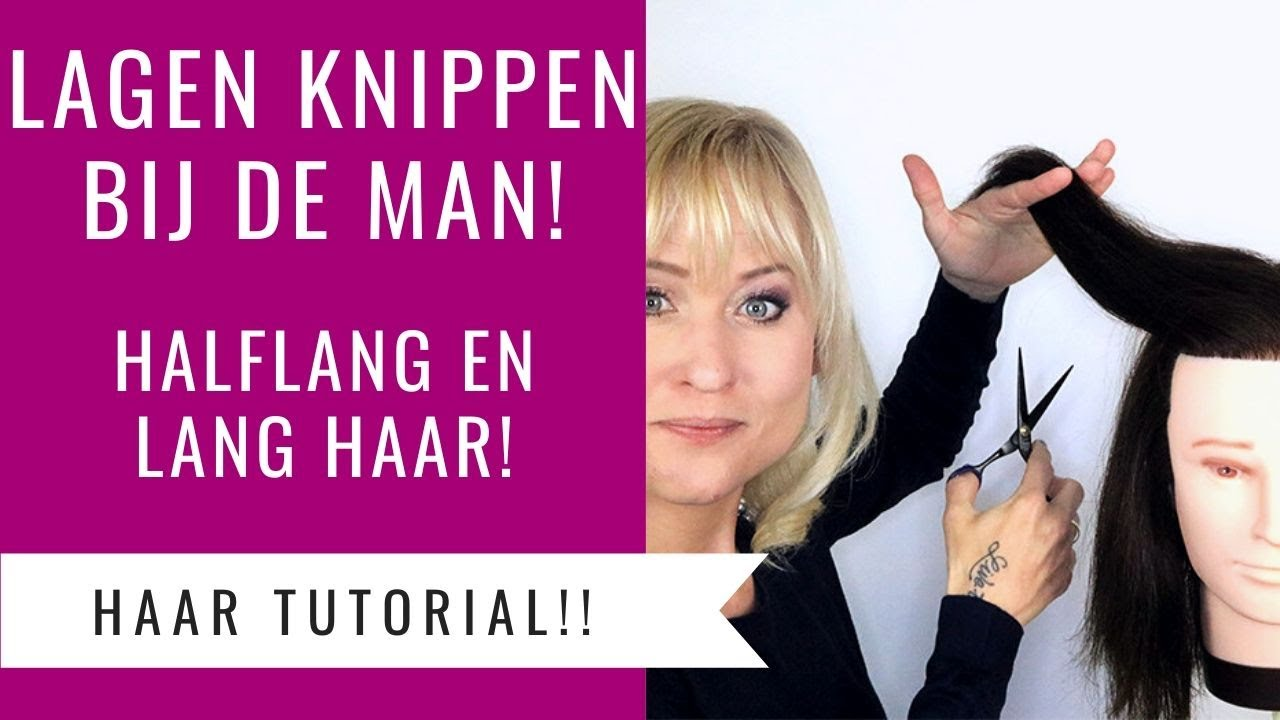 Laagjes Knippen Bij De Man Halflang En Lang Haar Dazzling Beauty Youtube