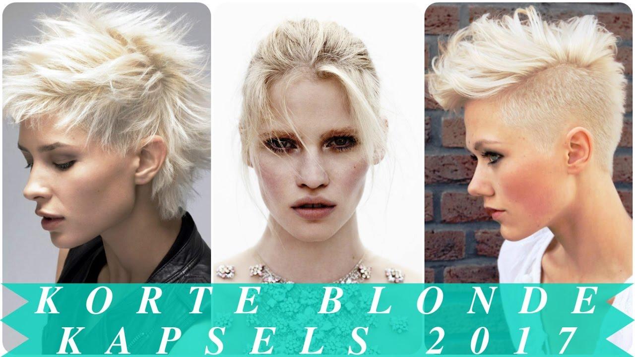 Korte Blonde Kapsels 2017 Youtube
