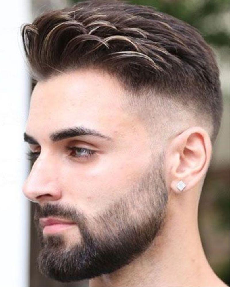 2017 Baard Kort Opgeschoren Zomer Zwart Beard Styles Shape Comb Over Fade Haircut Beard Styles Short