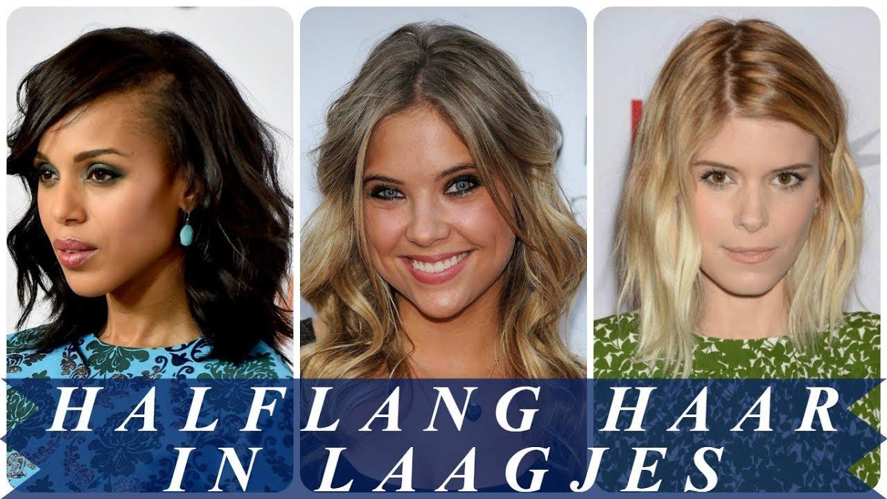 Trendy Kapsels Halflang Haar In Laagjes 2018 Dames Youtube