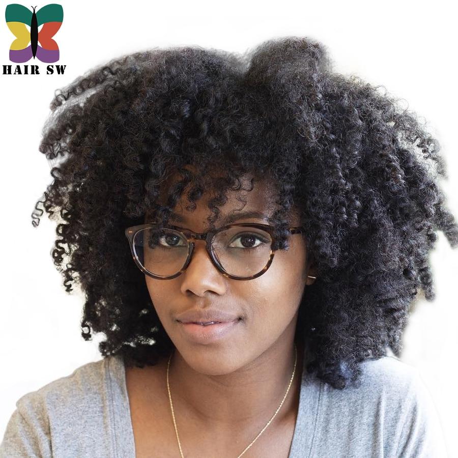 Haar Sw Korte Afro Natuurlijke Haar Kinky Krullend Synthetische Front Lace Pruiken Natuurlijke Grote Kroeshaar Kleur Lijmloze Pruik Voor Zwarte Vrouwen Aliexpress