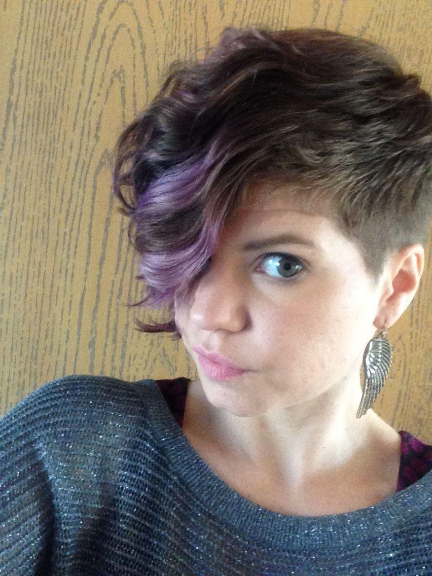 Undercut Asymmetrical Short Curly Hair