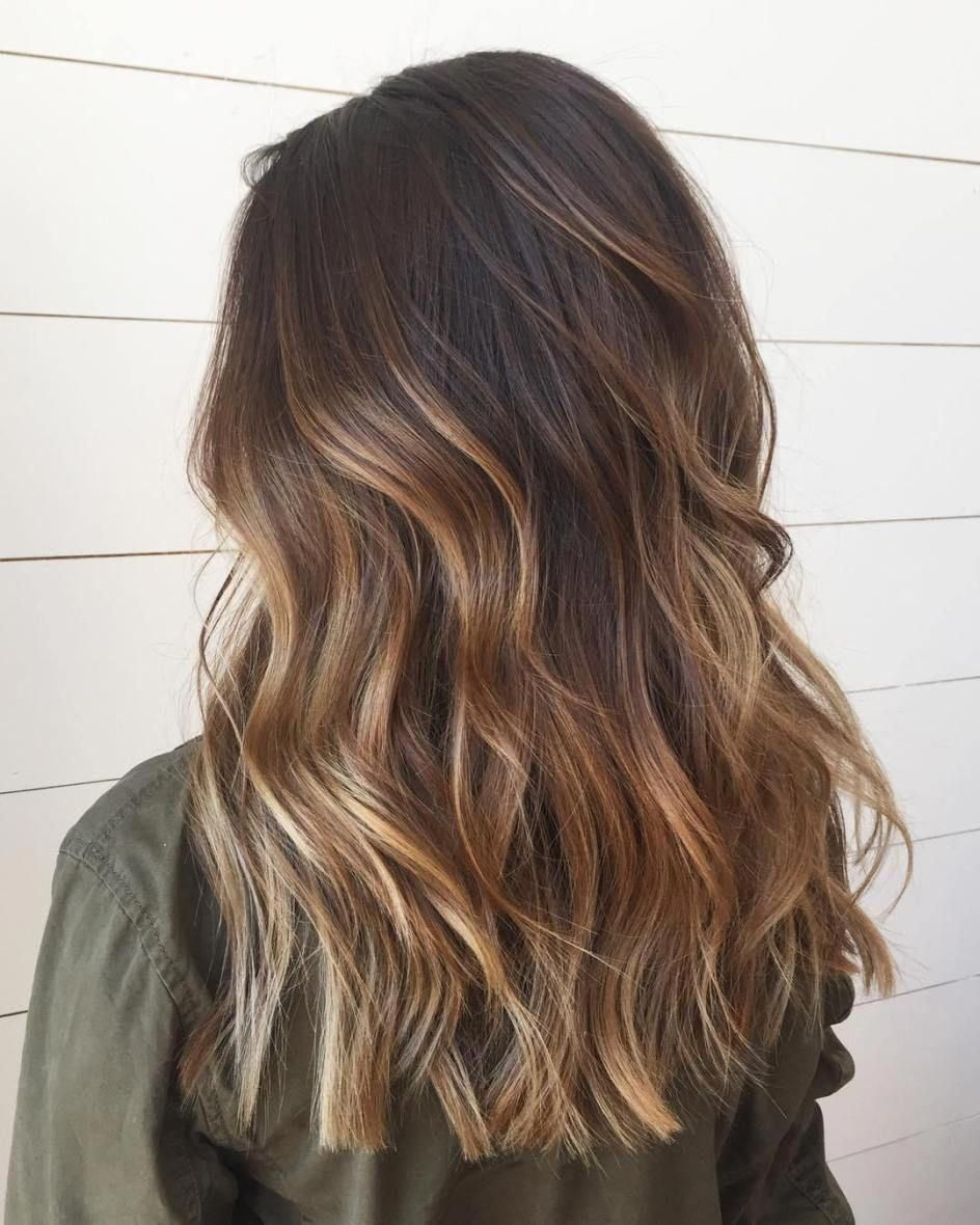 60 Hairstyles Featuring Dark Brown Hair With Highlights Darkbrownhair Hair Color Light Brown Hair Styles Hair Color Balayage